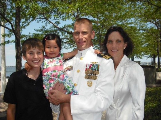 The four of us at Michael's change of command
