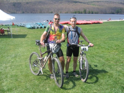 Tired and happy after winning the Rocky Gap Adventure Race